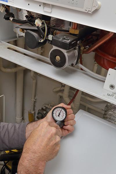 mesure pression chaudiere