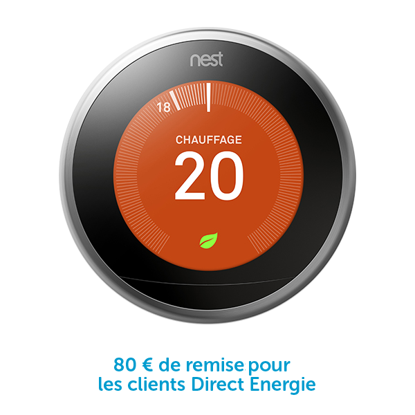 Thermostat connect nest direct energie - Thermostat connecte nest ...