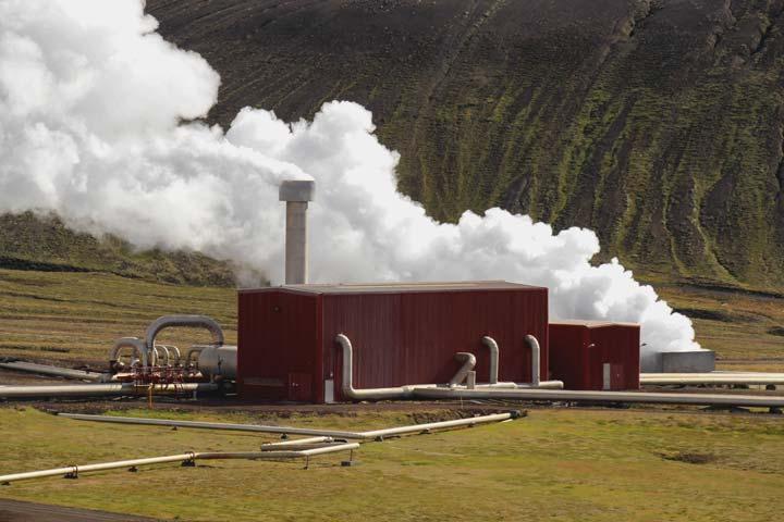 Une centrale thermique à flamme